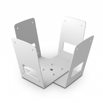 Apart MASK CW-W 4-Way Cluster Bracket for Mask 4C/6C  Speakers (White)